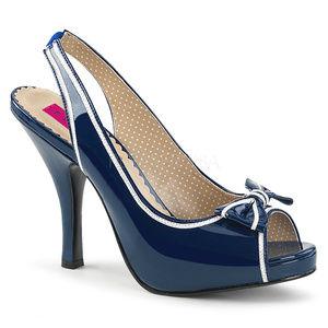 "Shoes - 4 1/2"" High Heel Bow Pinup Platform Peep Toe Shoes"